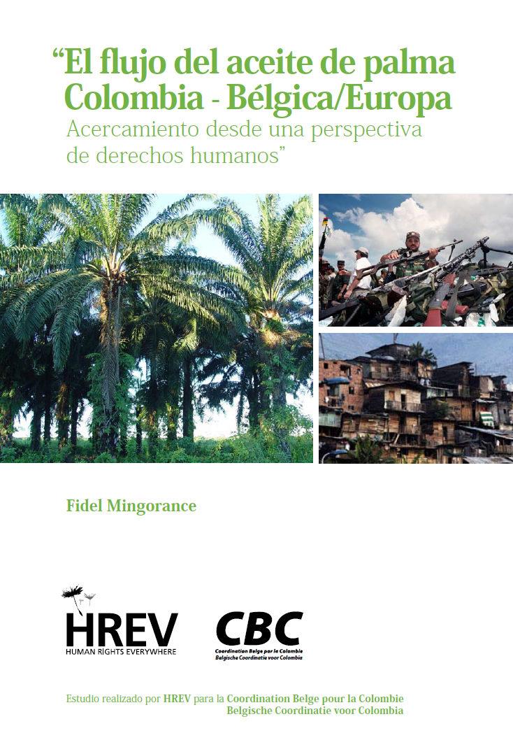El flujo del aceite de palma Colombia-Bélgica/Europa
