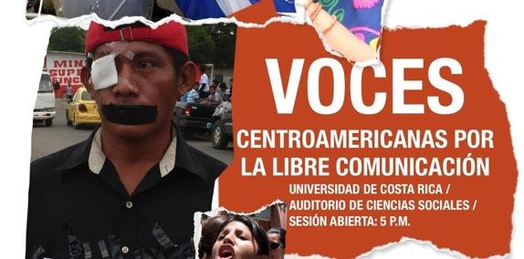 Voces centromericanas por una libre comunicación: 27 de febrero en Costa Rica